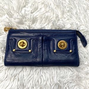 Marc by Marc Jacobs | Blue Leather Zippered Wallet